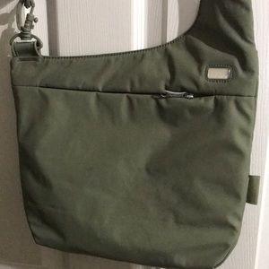 Pacsafe Travel Crossbody Handbag Olive Green New